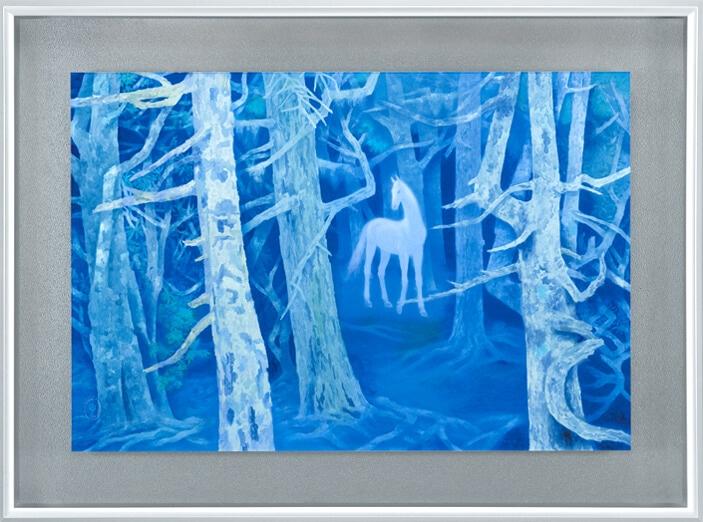 東山魁夷「白馬の森」の画像