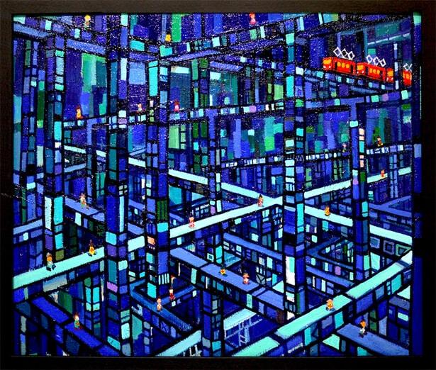 大谷太郎「青のまち」の画像