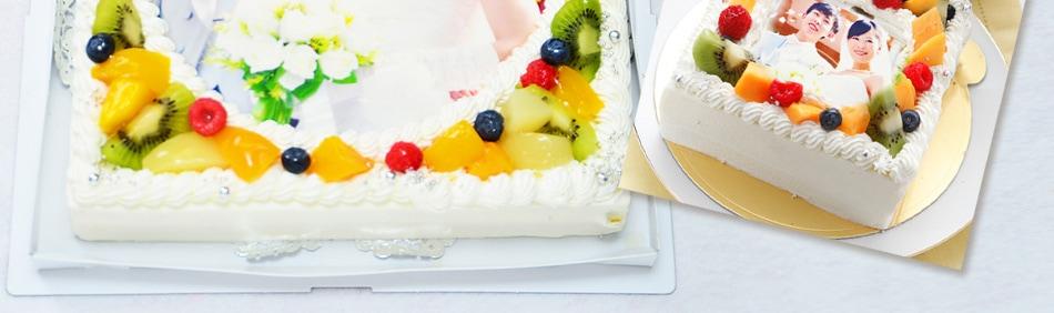 パーティーケーキ 写真ケーキ