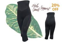 腰と膝をサポートするフラ専用膝軽フラ専用サポートスパッツ