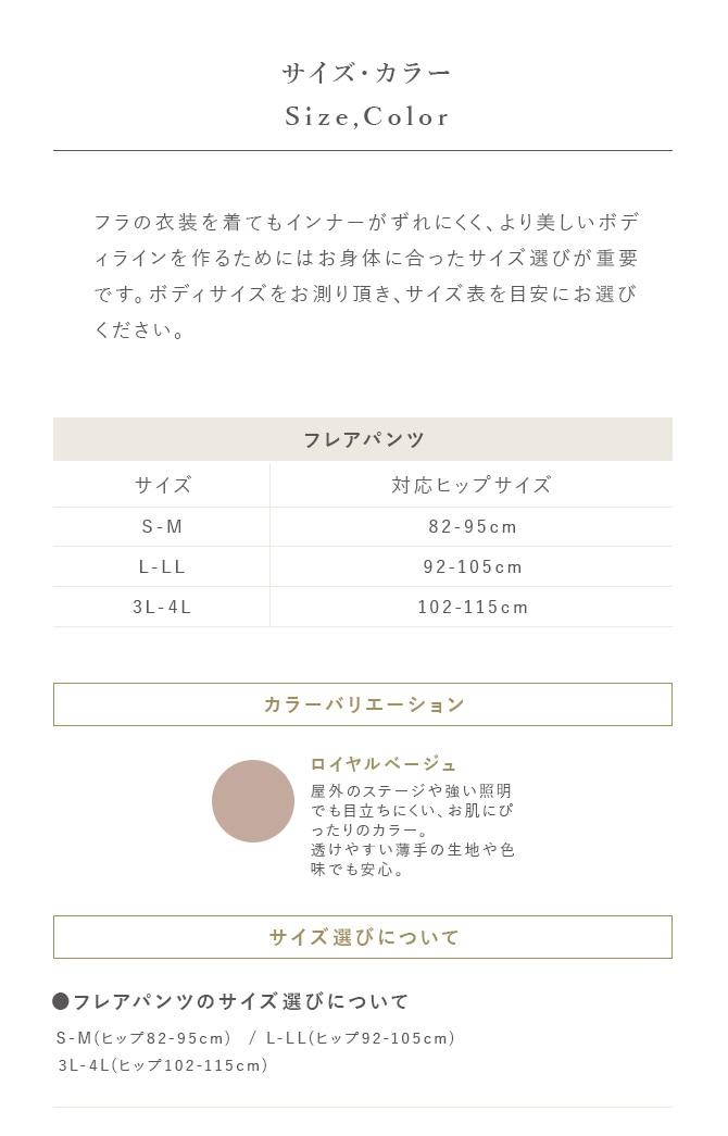 ラウラクス フラに合う素材とカラー 純日本製インナー