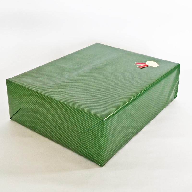 ストライプグリーンの包装の斜めのイメージ2枚目