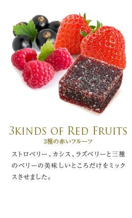 3種の赤いフルーツ