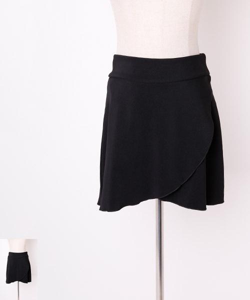■2Lサイズ■巻き風台形オーバースカート【社交ダンス 衣装 スカート ロング】