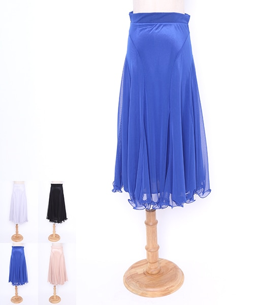 社交ダンス モダンスカート 【社交ダンス 衣装 ロングスカート】
