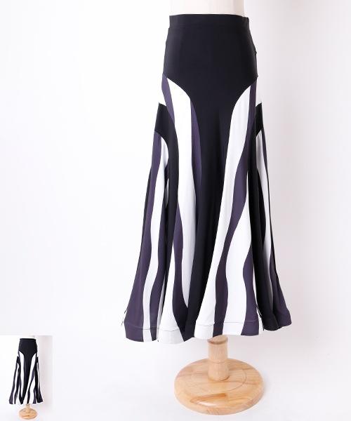 ◆セール!!◆ ウェーブ パネルデザイン ロングスカート【社交 衣装 スカート】