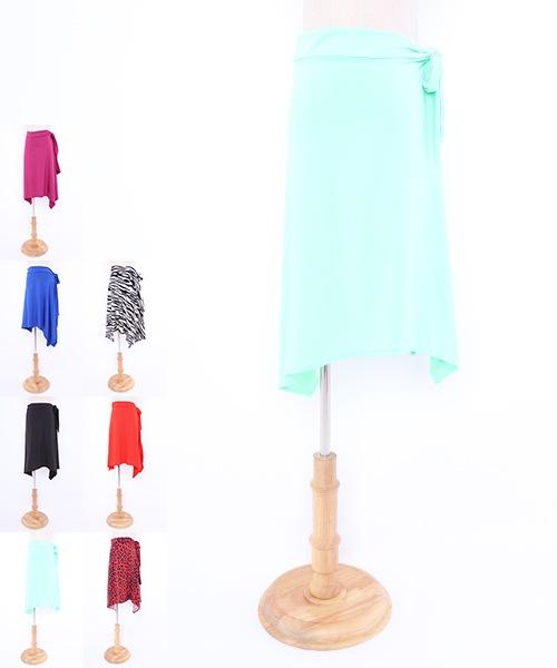 巻き風オーバースカート 【社交ダンス 衣装 スカート ロング】