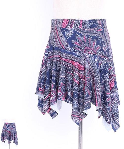 ◇セール10%オフ◇ペイズリーデザインオーバースカート【ベリーダンス 衣装 スカート 】