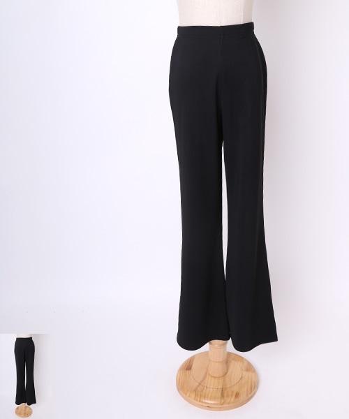 ■2Lサイズ普通丈■ブーツカットパンツ【社交ダンス 衣装 パンツ レッスンウエア】