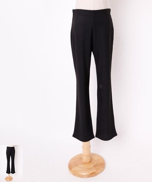 ■Lサイズ丈直不要■ストレートパンツ【社交ダンス 衣装 パンツ レッスンウエア】