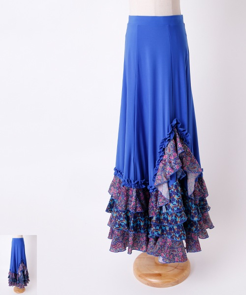 フラメンコ衣装 オリジナルスカート【フラメンコ ファルダー スカート ロング】