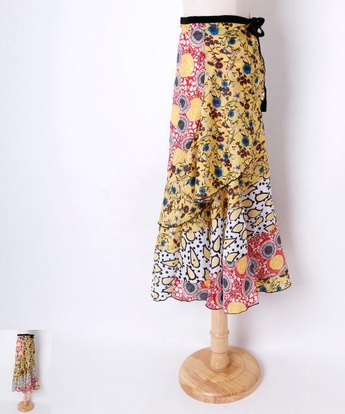 ◆セール30%オフ◆フラメンコスカート 巻きスカート【フラメンコ 衣装 スカート ロング】