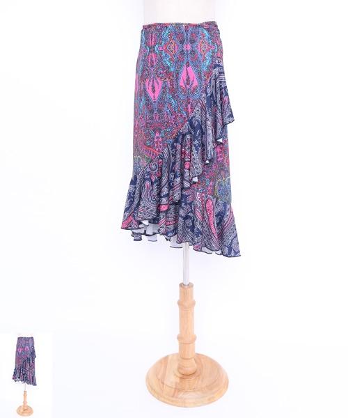ボヘミアンデザイン巻きスカート【フラメンコ 衣装 スカート 】