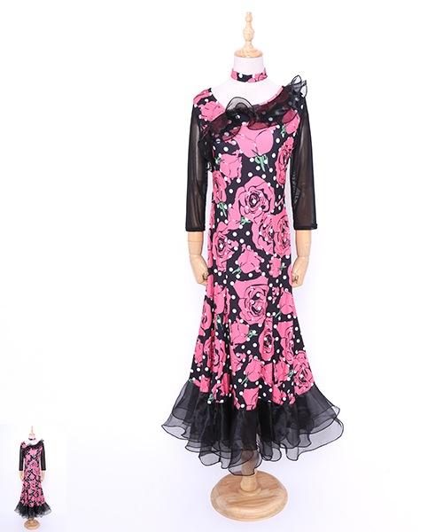 社交ダンス ワンピース モダンドレス【社交ダンス 衣装 ドレス 】