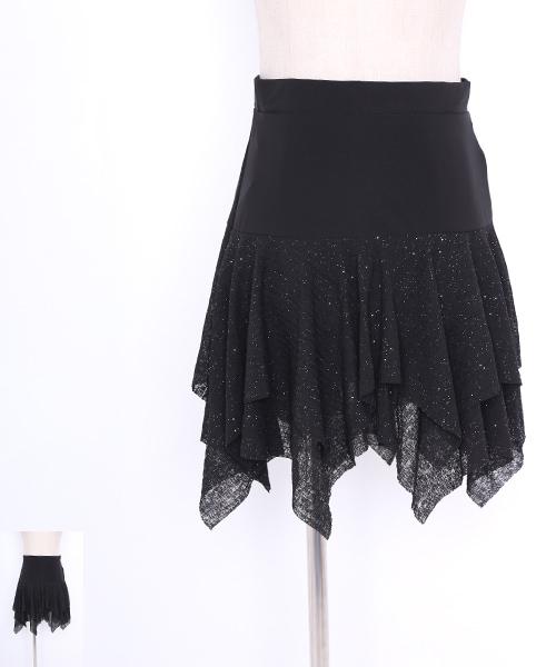 ◇セール30%オフ◇社交ダンス ミディアムスカート 【社交ダンス 衣装 スカート ミディアム ショート 】