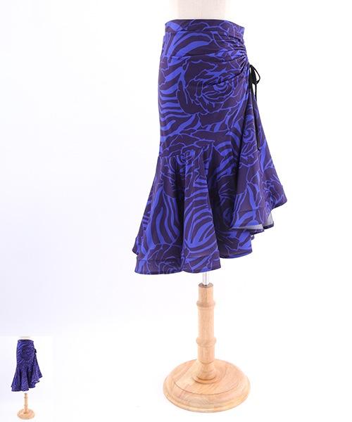 アニマルプリントミディアムスカート【社交ダンス 衣装 スカート】