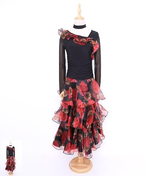 【期間限定50%OFF!】社交ダンス ワンピース モダンドレス【社交ダンス 衣装 ドレス 】
