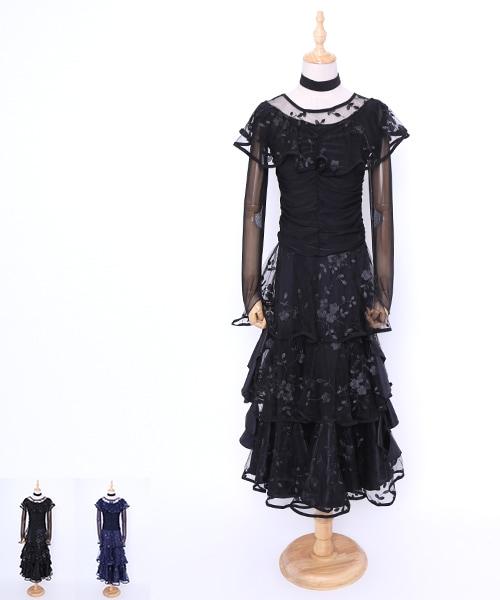 ◆セール30%オフ◆社交ダンス ワンピース モダンドレス【社交ダンス 衣装 ドレス 】