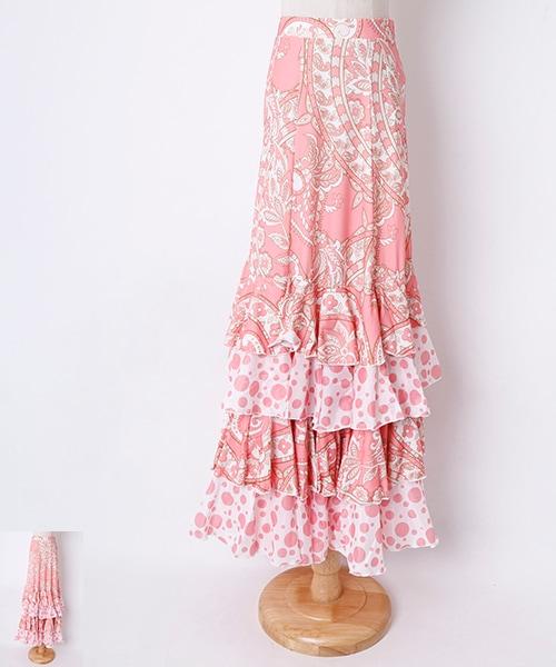◇セール10%オフ 5/26 23:59まで◇フラメンコ 衣装スカート 【フラメンコ 衣装 ファルダ】