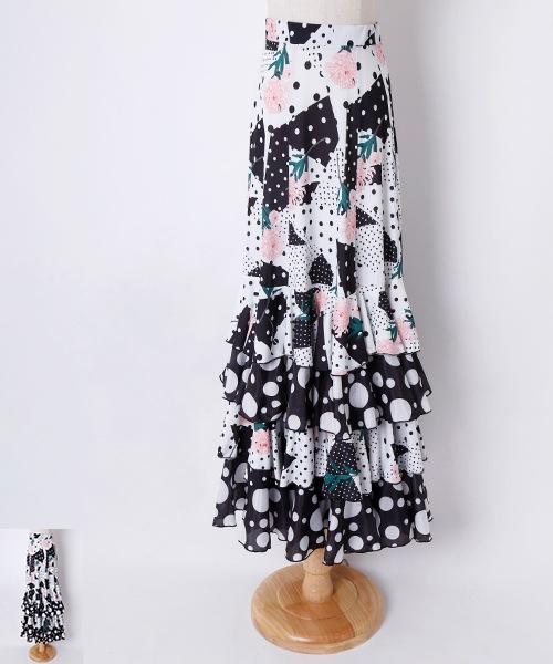 ◆15%OFF◆ フラメンコ 衣装スカート 【フラメンコ 衣装 ファルダ】