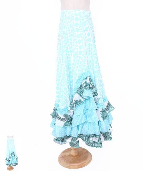◇セール30%オフ◇フラワーデザインフォルダー 【フラメンコ 衣装 スカート 】