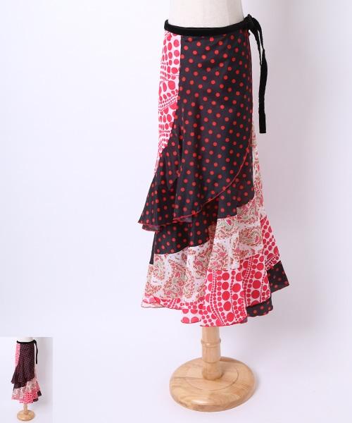 ◇セール10%オフ◇フラメンコ巻きスカート【フラメンコ 衣装 巻きスカート 】