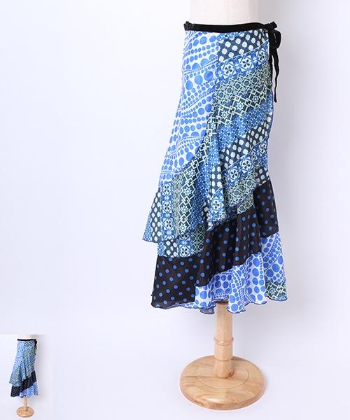 フラメンコ巻きスカート【フラメンコ 衣装 巻きスカート 】