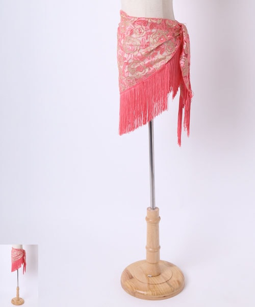 ◇金土日セール10%オフ 2019/05/19 23:59まで◇薔薇レース ヒップスカーフ【ベリーダンス 衣装 ヒップスカーフ 】