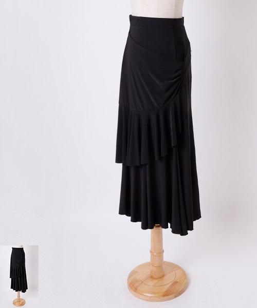 ◇セール10%オフ 8/25 23:59まで◇ドレープ切り替えロングスカート【社交 衣装 スカート】