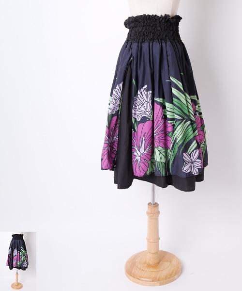 フラダンス ダブルパウスカート【ハワイアン イベント 衣装 スカート 】