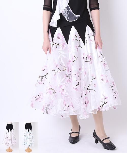◇セール10%オフ◇社交ダンス オーガンジースカート【社交 衣装 スカート】