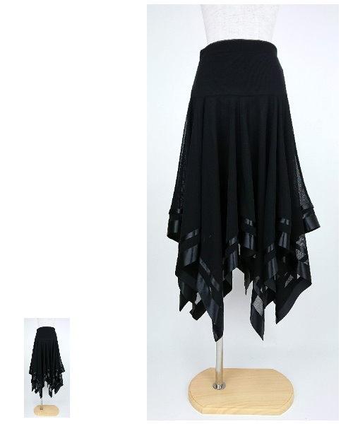 【韓国製】 ストーンミディアムスカート【社交ダンス 衣装 スカート ミディアム ショート】
