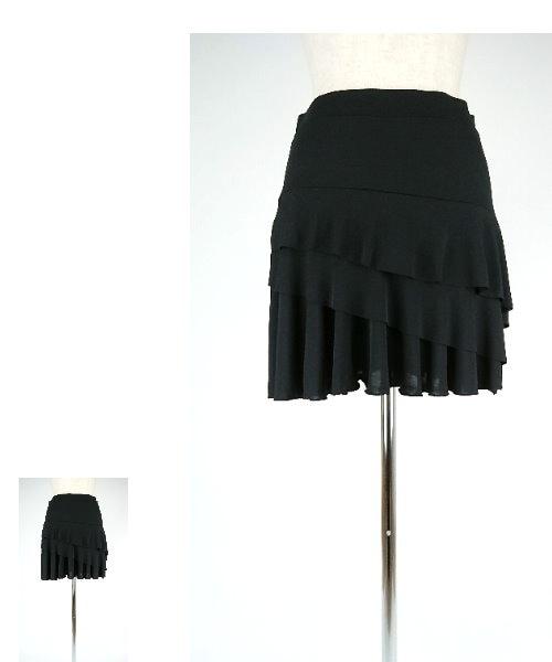 3段フリルオーバースカート【社交ダンス スカート オーバースカート】
