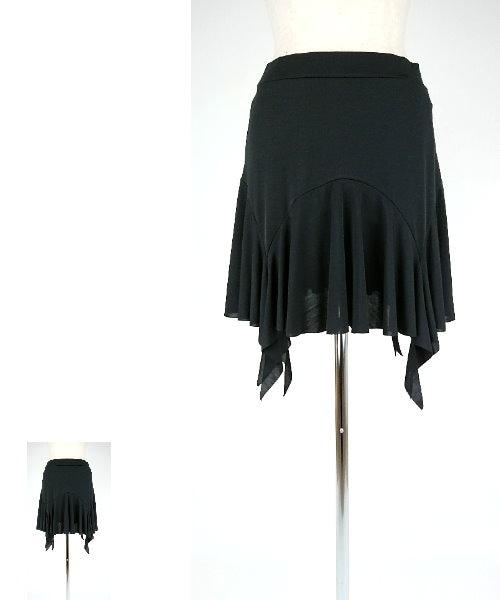 ランダムヘムオーバースカート【社交ダンス スカート オーバースカート】
