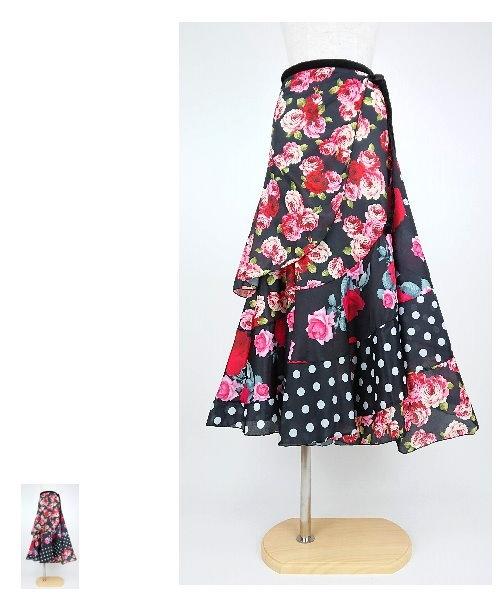 フラメンコスカート 巻きスカート【フラメンコ 衣装 スカート】