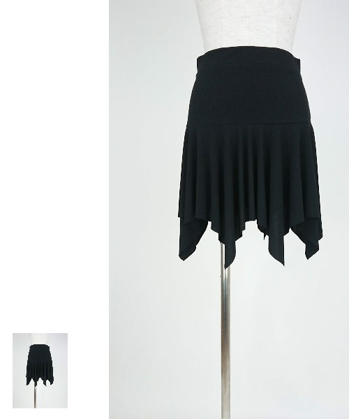 【韓国製】 ランダムヘムオーバースカート【社交ダンス スカート オーバースカート】