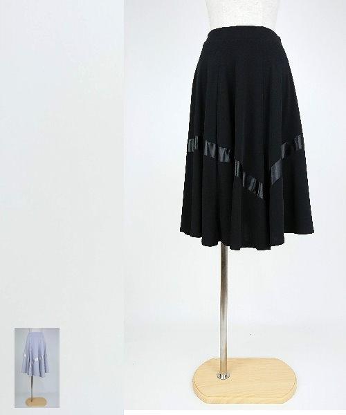 【韓国製】 サテンテープミディアムスカート【社交ダンス 衣装 スカート ミディアム ショート】