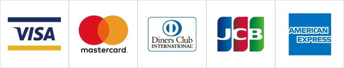 VISA,mastercard,DinersClub,JCB,AMERICANEXPRESS