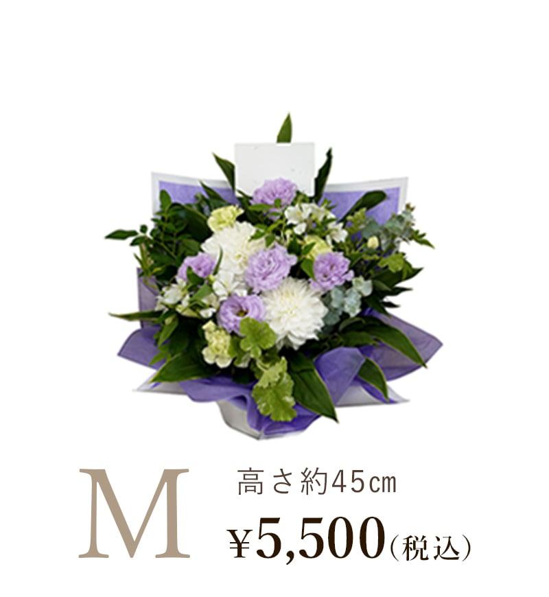 お供え・お悔やみのお花淡色系Mサイズ