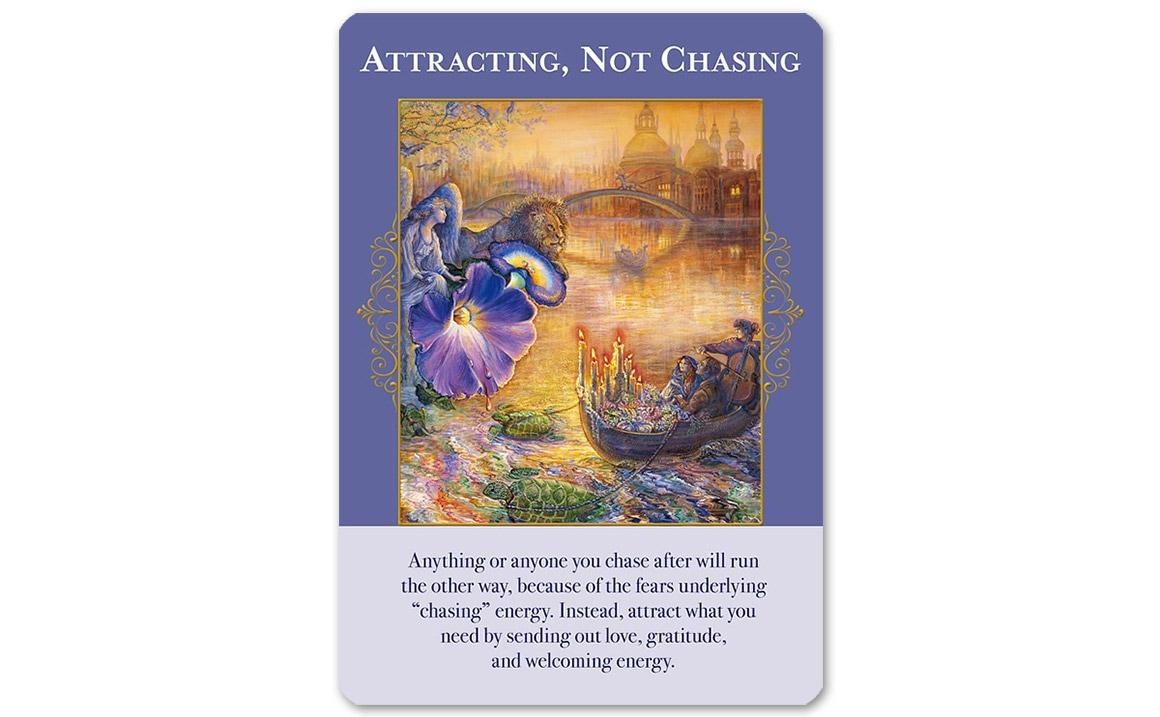 エンジェルオブアバンダンスオラクルカード Attracting, Not Chasing