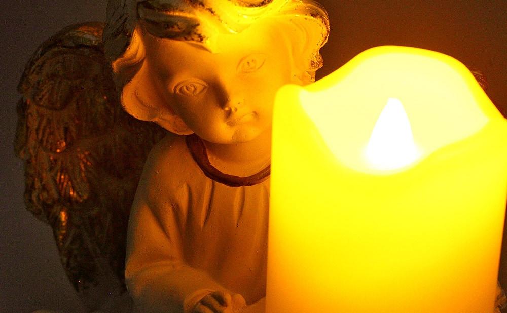 LEDキャンドル 天使のキャンドルホルダー