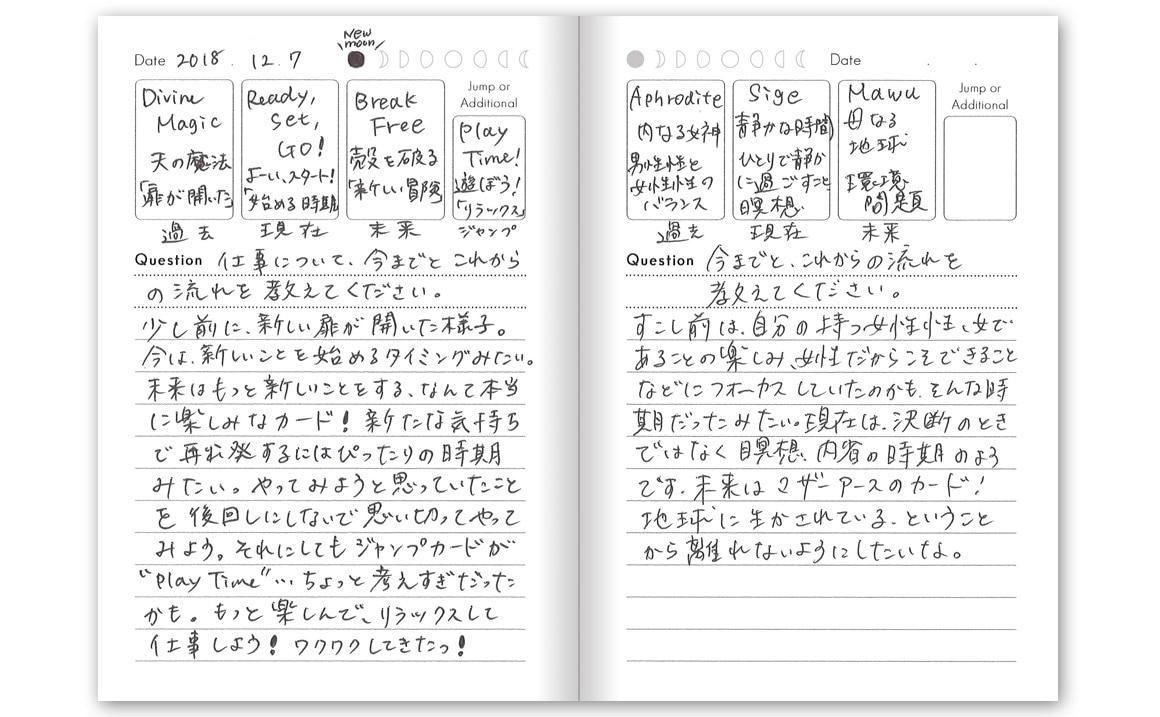 カードリーディングノート(記入例)