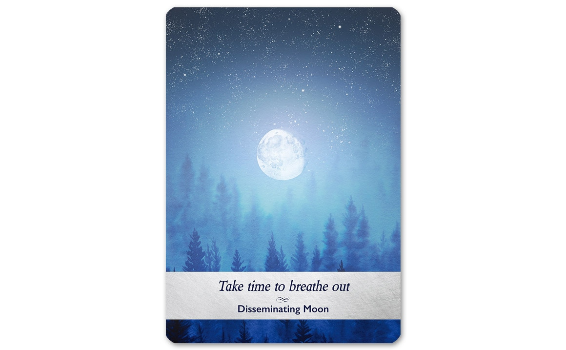 ムーンオロジーオラクルカード Disseminating Moon(十八夜の月)