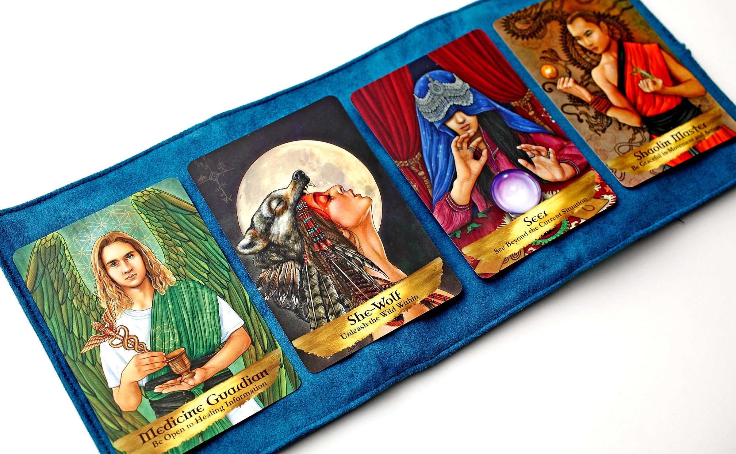 『エンジェルズ&アンセスターズオラクルカード』&『オラクルカードポーチ』セット