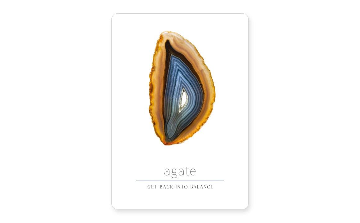 デイリークリスタルインスピレーション agate