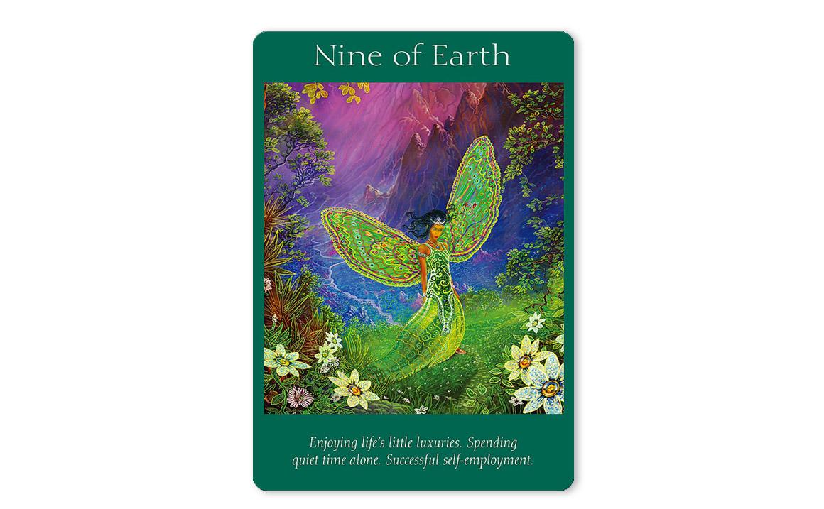 エンジェルタロットカード Nine of Earth