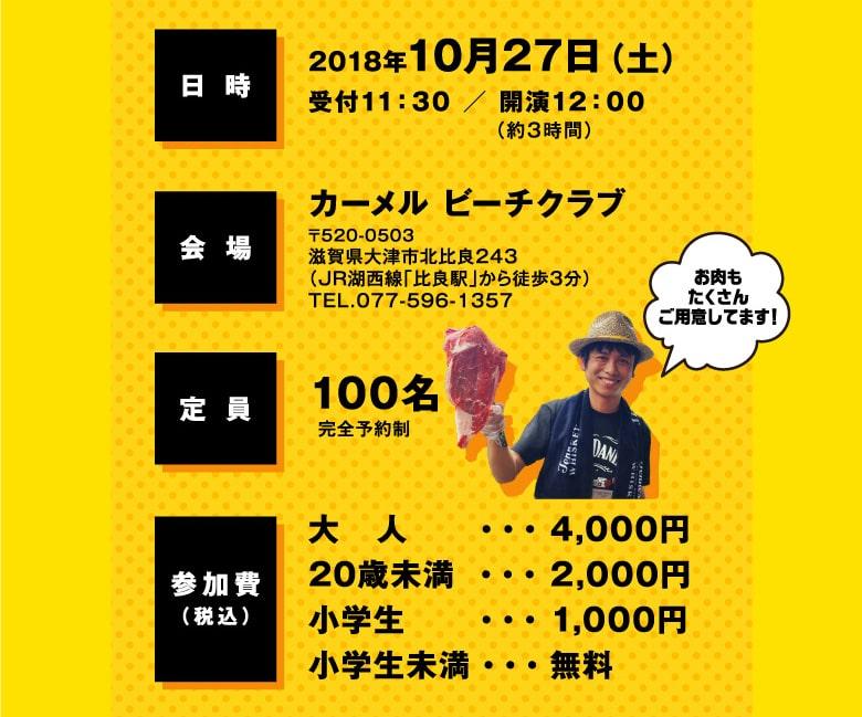 2018年10月27日(土)受付11:30 / 開演12:00(約3時間)