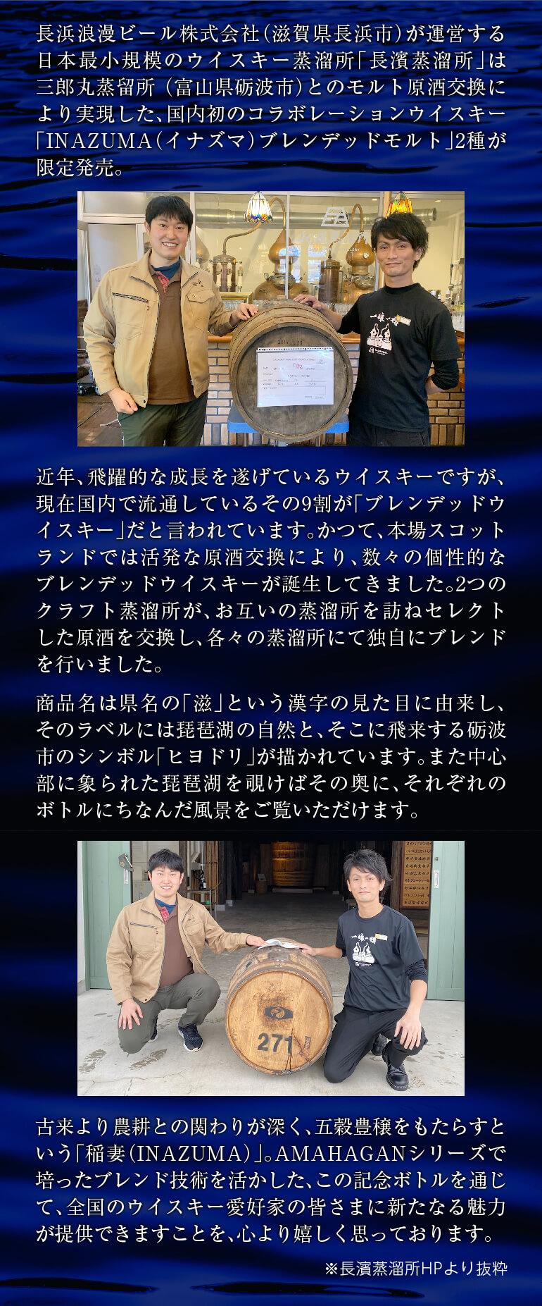 三郎丸蒸留所×長濱蒸溜所ウイスキー2本セット