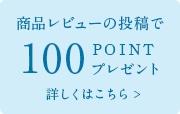 レビュー100ポイントプレゼント