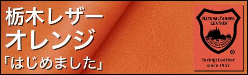 栃木レザー オレンジ 「はじめました」